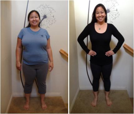 Mulher antes e depois de consumir o Goji Berry