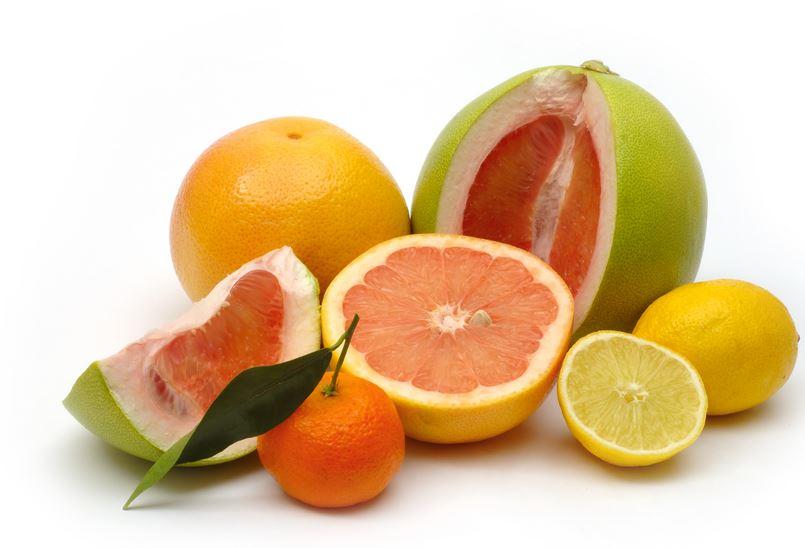 Frutas cítricas que contém vitamina C