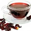 Chícara com chá de hibisco