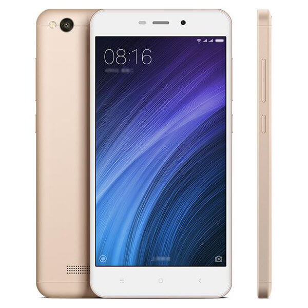 Xiaomi Redmi 4A na cor branco e dourado