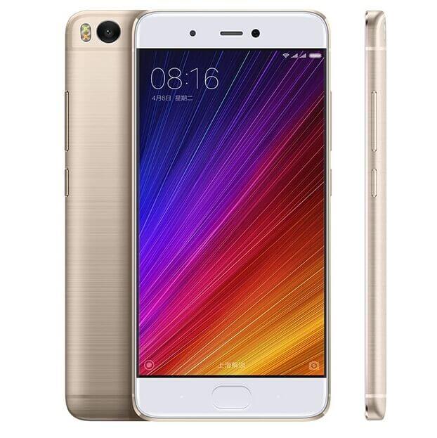 Celular Xiaomi Mi5s cor dourado