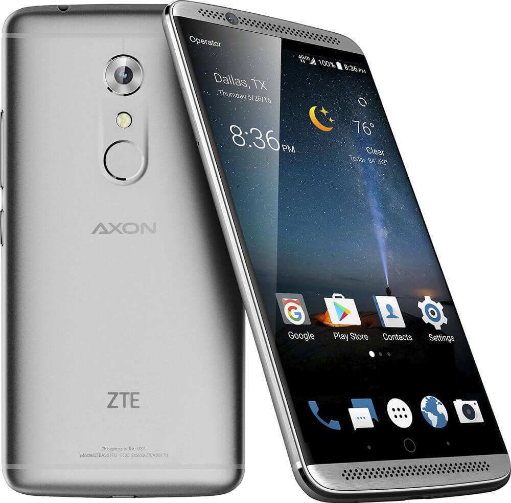 Celular ZTE Axon 7 na cor prata