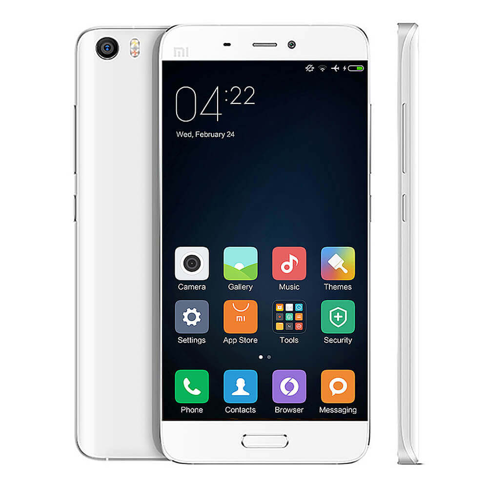 Celular Xiaomi Mi5 32GB na cor branca